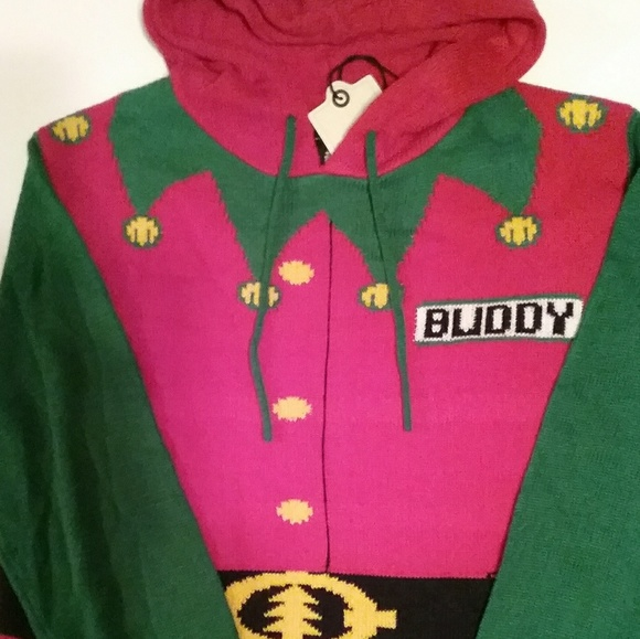 womens ugly christmas sweater buddy the elf med - Buddy The Elf Christmas Sweater